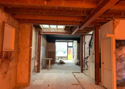 Staalconstructie Haagse woning